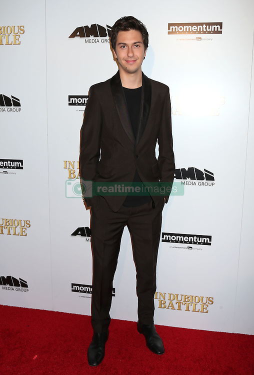 Nat Wolff, In Dubious Battle, film premiere, Arclight Hollywood Cinemas (Hollywood, California)