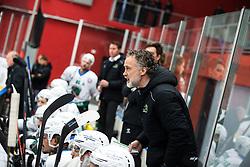 Coach of HK SZ Olimpia Tomaz VNUK during First league between HDD Acroni Jesenice vs HK SZ Olimpia, on April 23, 2019 in Jesenice, Slovenia. Photo by Peter Podobnik / Sportida
