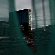 DUBLIN, IRELAND - OCTOBER 27, 2016: Google's European headquarters, centre, as seen from the Grand Canal Dock in Dublin. CREDIT: Paulo Nunes dos Santos for The New York Times