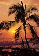Sunset, Kailua-Kona, Island of Hawaii, Hawaii, USA<br />