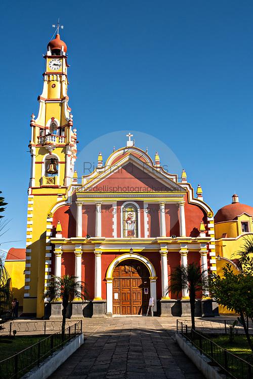 The San Jeromino Parish church in the central historic district of Coatepec, Veracruz State, Mexico.