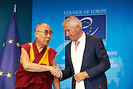 HHDL with Thorbjorn Jagland