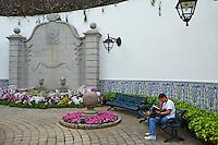 Chine, Macao, cour du Palais du Senat, le Leal Senado // China, Macau, Courtyard of Senate palace, the Leal Senado