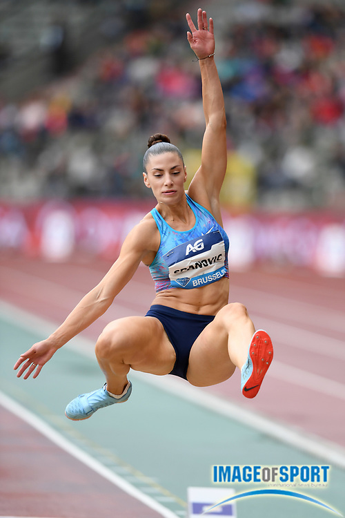 Ivana Spanovic (SRB) wins the women's long jump at 21-11¾ (6.70m) during the 42nd Memorial Van Damme in an IAAF Diamond League meet at King Baudouin Stadium in Brussels, Belgium on Friday, September 1, 2017. (Jiro Mochizuki/Image of Sport)