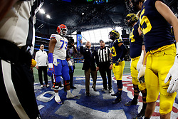 Dan Cathy performs the ceremonial coin toss during the Chick-fil-A Peach Bowl, Saturday, December 29, 2018, in Atlanta. ( Paul Abell via Abell Images for Chick-fil-A Peach Bowl)