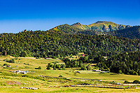 Dabadzveli mountain landscape near Borjomi  landmark of Samtskhe Javakheti region Georgia eastern Europe