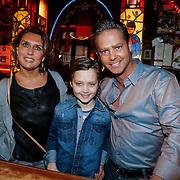 NLD/Amsterdam/20130311 - CD presentatie jubileum cd Danny de Munk, Danny, partner Jenny Sluyter en zoon Davey