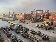 24 Set 2020 - Vehicles are sanitized in the port of Ensenada (Mexico).