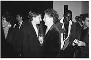 James Truman and Malcolm McLaren.  James Truman party for Malcolm Mclaren, New York 1995© Copyright Photograph by Dafydd Jones 66 Stockwell Park Rd. London SW9 0DA Tel 020 7733 0108 www.dafjones.com<br />