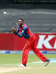 Aaron Phangiso (capt) of the Bizhub Highveld Lions during the T20 Challenge cricket match between the Lions and the Warriors at the Kingsmead stadium in Durban, KwaZulu Natal, South Africa on the 4th December 2016<br /> <br /> Photo by:   Steve Haag / Real Time Images