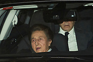 Princess Margarita Borbon, Carlos Zurita, Maria Zurita attends Princess PIlar Borbon funeral chapel  installed in the Gomez-Acebo house on January 8, 2020 in Madrid, Spain