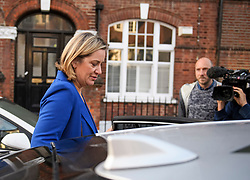 © Licensed to London News Pictures. 08/09/2019. London, UK. Former Secretary of State for Work and Pensions AMBER RUDD is seen leaving her London home the morning after resigning from government and the Conservative Party. The remain backing MP has criticised Prime Minister Johnson's approach to Brexit. Photo credit: Ben Cawthra/LNP