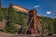 Yankee Girl Mine, Red Mountain, Red Mountain Mining District, between Ouray and Silverton on Highway 550 (Million Dollar Highway), Colorado,