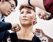 Sophia been build inside the Hanson robotic lab