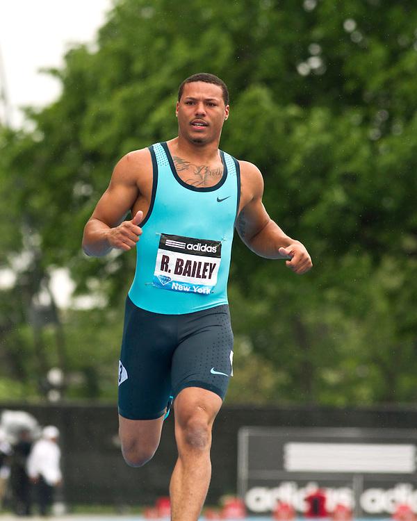 adidas Grand Prix Diamond League professional track & field meet: mens 100  meter final, Ryan Bailey