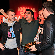 NLD/Hilversum/20130109 - Uitreiking 100% NL Awards 2012, Gers Pardoel, Jan Smit, Gerard Joling, Peter van der Vorst