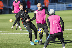 January 5, 2018 - Barcelona, Catalonia, Spain - Javier Mascherano from Argentina of FC Barcelona during the FC Barcelona open doors training session at Mini Estadi in Barcelona on 05 of January, 2018. (Credit Image: © Xavier Bonilla/NurPhoto via ZUMA Press)