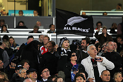 New Zealand fans cheer on their side in the stands