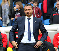 Watford Head coach and Manager Slavisa Jokanovic during the Sky Bet Championship match between Brighton and Hove Albion and Watford at the American Express Community Stadium, Brighton and Hove, England on 25 April 2015. Photo by Phil Duncan.