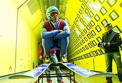 05.09.2014, Klima Wind Kanal, Wien, AUT, OESV, Nordische Kombination Skisprungtraining im Wind Kanal, im Bild Willi Denifl // during the Skijump training in the Climatic Wind Tunnel, Vienna, Austria on 2014/09/05. EXPA Pictures © 2014, PhotoCredit: EXPA/ Sebastian Pucher