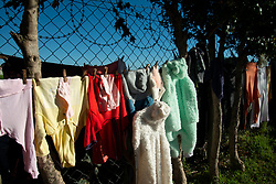 "The laundry of a multi-family household in Jamestown, in the Cape Winelands District, hangs in the sunshine on Saturday, May 30, 2020. Twelve adults, six women and six men, live here with seven children. They are all from Zimbabwe and most of them have not been able work during lockdown, as their places of employment are closed. Being from another country, they also didn't qualify for assistance, explained Lenia Tafirey, who spoke for the group. However, the car-wash employer of two of the men, and a volunteer soup kitchen, made sure the residents have had food to eat since the lockdown started at the end of March. <br /> ""We all come from the same country, Zimbabwe,"" said Tafirey. ""No one is working. We are working at restaurants, and the restaurants are closed. We have no money. No work, no pay. And we are foreigners. We are not from here."" <br /> To those who ask why they haven't returned to their home country, she says: ""But the borders are closed."" <br /> Evernice Magara adds: ""It's difficult to go back, and we have no accommodation in Zimbabwe. We don't have money. We don't have nothing. We can't just go back because of Corona virus,"" she says. ""We have been getting soup every day."" PHOTO: EVA-LOTTA JANSSON"