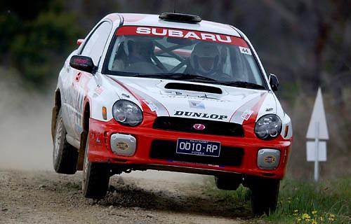 Danny Murphy.Subaru Impreza WRX.Motorsport-Rally.2003 NGK Rally of Melbourne.Yarra Valley, Victoria .5th of October 2003 .(C) Joel Strickland Photographics
