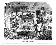 """The Cottage. Mr Punch (to landlord). """"Your stable arrangements are excellent! Suppose you try something of the sort here! Eh?"""""""
