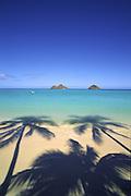 Lanikai Beach, Mokumanu Islands, Oahu, Hawaii<br />