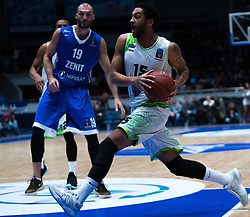 November 8, 2017 - Saint Petersburg, Russia - Marko Simonovic of Zenit St. Petersburg (L) and Pierria Henry of Tofas Bursa vie for the ball during the EuroCup Round 5 regular season basketball match between Zenit St. Petersburg and Tofas Bursa at the Yubileyny Sports Palace in St. Petersburg, Russia, November 08, 2017. (Credit Image: © Igor Russak/NurPhoto via ZUMA Press)