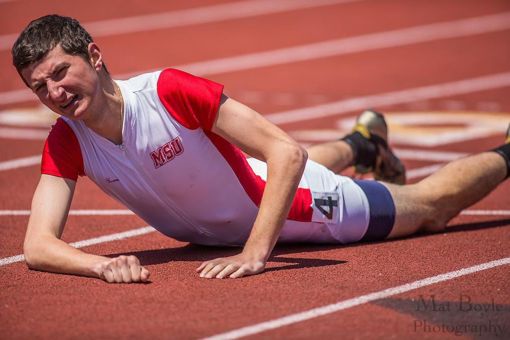 Men's 400 meters at the NJAC Track and Field Championships at Richard Wacker Stadium on the campus of  Rowan University  in Glassboro, NJ on Sunday May 5, 2013. (photo / Mat Boyle)