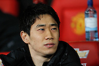 Manchester United's Shinji Kagawa on the bench during<br /> the Barclays Premier League - Manchester United v Cardiff City- Old Trafford, Manchester, England