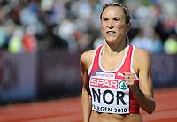 Friidrett<br /> 20. juni 2010<br /> Fana Stadion , Bergen , Norway<br /> European team championships<br /> 1500 M Woman<br /> Ingvill Måkestad Bovim, NOR<br /> Foto : Astrid M. Nordhaug