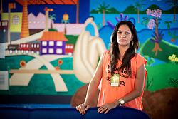 A Psicóloga Marinês Fernandes, de Sapiranga que viajaram para Santa maria e estão trabalhando como voluntários na tragédia onde morreram mais de 230 pessoas no incêndio da Boate Kiss. FOTO: Jefferson Bernardes/Preview.com