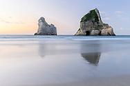 Oceania; New Zealand; Aotearoa; South Island; Golden Bay, Kahurangi National Park, Wharariki Beach