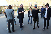 EXCLUSIVE - Nick Jonas pictured with Marissa Machado in Italy<br /> <br /> Florence, Italy -  singer Nick Jonas and his personal hairstylist/groomer Marissa Machado enjoyed some time together this afternoon at the famous Uffizi Gallery. Onlookers say they looked very close and enjoyed the day looking around the museum. <br /> ©Exclusivepix Media