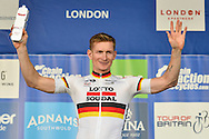 Andre Greipel of Germany and Lotto Soudal wins most combative rider award during the Tour of Britain 2016 stage 8 , London, United Kingdom on 11 September 2016. Photo by Mark Davies.