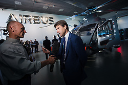 The forthcoming Airbus light defense Helicopter for military uses, 'The Guepard' has been presented in Marignane Airbus headquarters (close to Marseille) by Bruno Even, Airbus Helicopters CEO, on May the 27, 2019. It will fly two years earlier from the initial schedule, 2026 instead of 2028. Airbus has presented the first full scale model this day. The inter army lightweight secured Helicopter program represent 2,000 Jobs for Airbus Helicopters. Photo by Clement Mahoudeau / ABACAPRESS.COM
