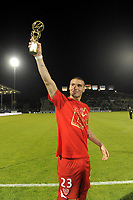 FOOTBALL - FRENCH CHAMPIONSHIP 2010/2011 - L2 - SCO ANGERS v DIJON FCO - 27/05/2011 - PHOTO JEAN MARIE HERVIO / DPPI - SEBASTIAN RIBAS (DIJ) BEST STRIKER OF LIGUE 2 SEASON