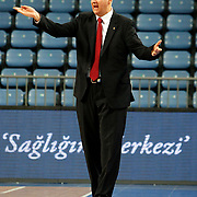 MP Trabzonspor's coach Dragan SAKOTA during their Turkish Basketball league match Efes Pilsen between MP Trabzonspor at the Sinan Erdem Arena in Istanbul Turkey on Friday 11 March 2011. Photo by TURKPIX