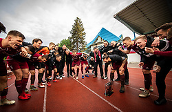 Luka Majcen of Triglav and other Players of Triglav celebrate after the football match between NK Triglav Kranj and NK Domzale in 35th Round of Prva liga Telekom Slovenije 2018/19, on May 22nd, 2019, in Sports park Kranj, Slovenia. Photo by Vid Ponikvar / Sportida