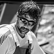 Leg 6 to Auckland, day 07 on board MAPFRE, Guiullermo Altadill, B&W. 13 February, 2018.