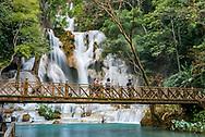 Kuang Si waterfall near Luang Prabang.