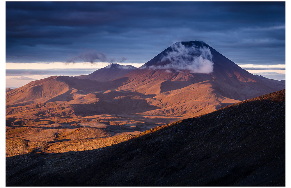 Mt Ngauruhoe from Meads Wall, Tongariro National Park.