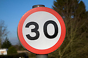 Thirty mile an hour speed limit sign