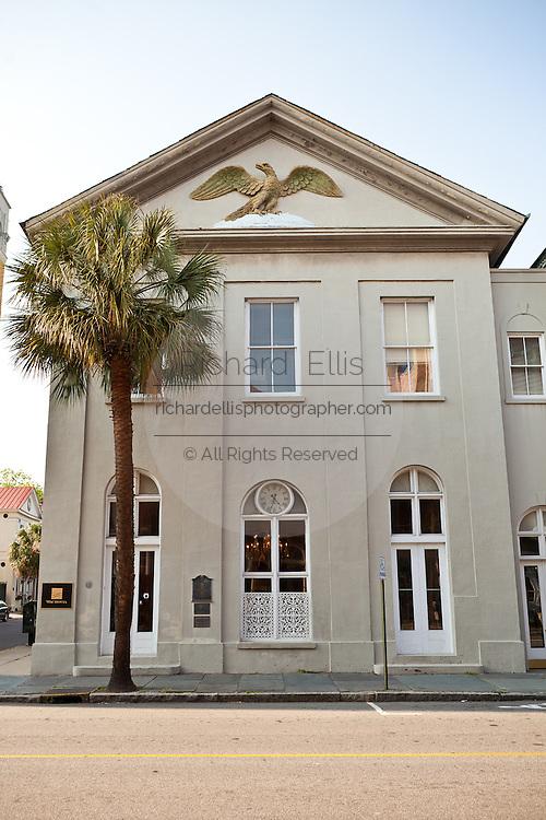 Historic building along Broad Street Charleston, SC.