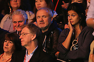 Damien Hirst and girlfriend Katie Keight in the stands supporting Ronnie O'Sullivan (Eng). Ronnie O'Sullivan (Eng) v Joe Perry (Eng), the Masters Final at the Dafabet Masters Snooker 2017, at Alexandra Palace in London on Sunday 22nd January 2017.<br /> pic by John Patrick Fletcher, Andrew Orchard sports photography.