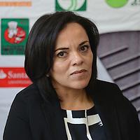 """Toluca, México.- Mariana Sánchez, Directora Ejecutiva de la fundación UAEMex, durante conferencia de prensa, donde anunciaron el Cuarto Torneo de Golf """"Jugando por la Educación"""", evento organizado por la Fundación UAEMEX. Agencia MVT / Arturo Hernández."""