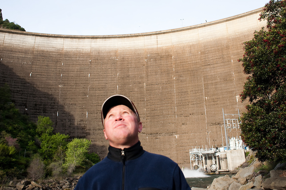 Ken Emigh, Damtender for Solano County Irrigation District, outside of Monticello Dam on March 24, 2010. Ken Emigh, Damtender for Solano County Irrigation District, outside of Monticello Dam on March 24, 2010.