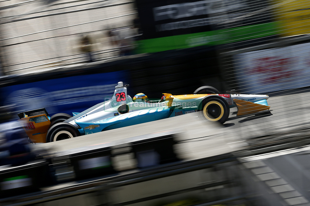 April 13, 2018 - Long Beach, California, United States of America - April 13, 2018 - Long Beach, California, USA: Gabby Chaves (88) takes to the track to practice for the Toyota Grand Prix of Long Beach at Streets of Long Beach in Long Beach, California. (Credit Image: © Justin R. Noe Asp Inc/ASP via ZUMA Wire)