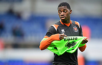 Blackpool's Sullay Kaikai during the pre-match warm-up<br /> <br /> Photographer Chris Vaughan/CameraSport<br /> <br /> The EFL Sky Bet League One - Ipswich Town v Blackpool - Saturday 23rd November 2019 - Portman Road - Ipswich<br /> <br /> World Copyright © 2019 CameraSport. All rights reserved. 43 Linden Ave. Countesthorpe. Leicester. England. LE8 5PG - Tel: +44 (0) 116 277 4147 - admin@camerasport.com - www.camerasport.com
